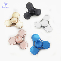 Tri Spinner Fidget Toy Electroplating Alum Aluminum Alloy EDC Hand Spinner For Autism And Rotation