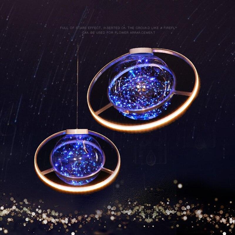 Nieuwe Collectie Shine LED Flash Ster Bal Bruiloft Showcase Decoratie Ruimte Planeet Opknoping Ornament Kroonluchter Gratis Verzending - 4