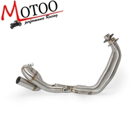 Motorcycle Exhaust Modified Scooter Front Pipe Slip On Full System For yamaha FZ07 MT 07 MT 07 2014 2017 XSR700 2016 2018
