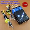 Premium de Alta Brilhante 12 V 35 W 55 W Hid Xenon Lâmpadas Lâmpadas de Feixe Único 5500 K 6500 K H1 H3 H7 9005 9006 D2H Para DLT 35 W 55 W balastros