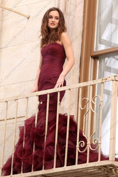 Fashinable Kleider Gossip Girl Burgund Prom Kleid Abendkleid Blair ...