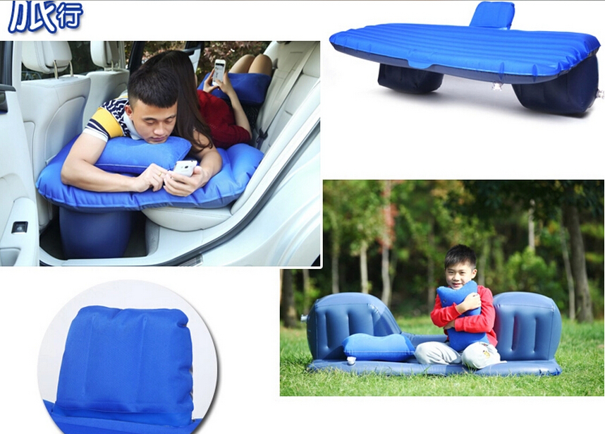 High quality <font><b>Oxford</b></font> cloth Car Travel Inflatable <font><b>bed</b></font> Automotive air mattress Camping Mat with Air Pump