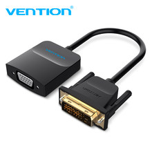 Vention DVI TO VGA Adaptor DVI-D untuk VGA Converter Kabel DVI 24 + 1 TO VGA Female HD 1080 P Video Converter untuk PC Laptop TV(China)