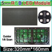 P5 na zewnątrz w pełnym kolorowy moduł wyświetlacza led, SMD RGB 3 w 1 P5 panel ledowy, 1/8 skanowania 320mm x 160mm wideo na zewnątrz ściany modułu led