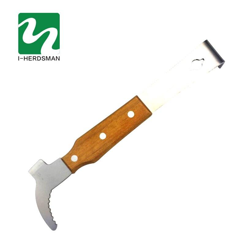 Bee tools Stainless Steel Multifunctional Bee Tools Starting Scraper Bee Knife Beekeeping Wooden Honey Cut Knife