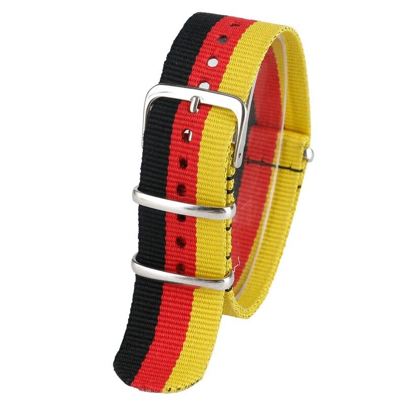 22mm Sport Outdoor German Style Military Nylon High Quality Soft Watch Strap Wrist Band Canvas Bracelet Men Women Watchband survival nylon bracelet brown
