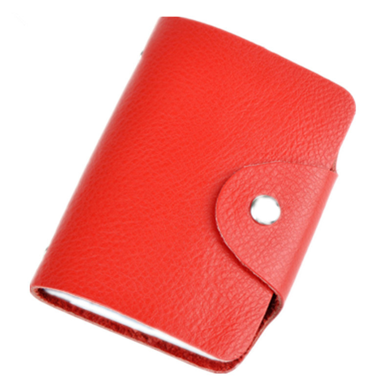 26 Slots Genuine Leather Women Men ID Card Holder Card Wallet Purse Credit Card Business Card Holder Protector Organizer DC29 leather slim credit card holder id card case holder useful purse with neck strap