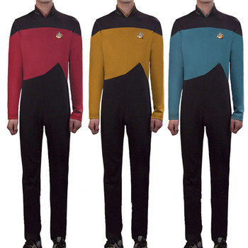 New Arrival Star Trek Cosplay Costumes Jumpsuit and Free Badge Halloween,stage, Clothes Carnival, Christmas Gift Adult Uniforms