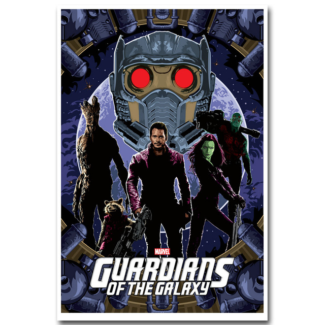Guardians of The Galaxy Silk Fabric Poster
