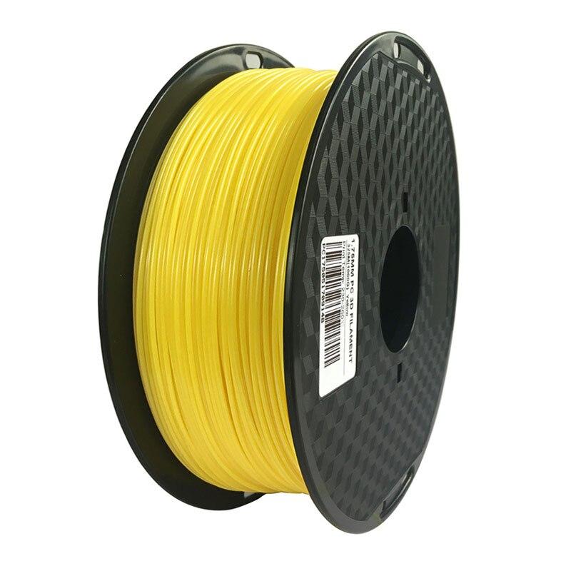 3D Printer Filament PC 1.75 mm 1kg 7 colors Available Polycarbonate Printing PC Material pc 7