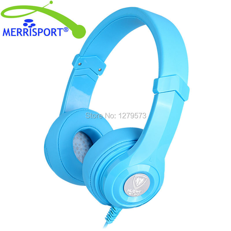 MERRISPORT Headset Headphone On Ear Foldable Noise Isolating Headsets With Mic Kids Adults For Computer Phone Iphone MP3 Players merrisport lightweight foldable wired girls headphones kids headsets with microphone and remote control for computer phone mp3 4
