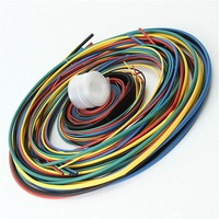 55M 6Color Multi Color Polyolefin 2 1 Halogen Free Heat Shrink Tubing Tube Assortment Sleeving Wrap