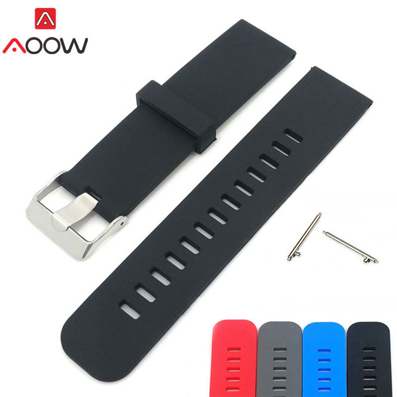 20mm 22mm Silicone Watchband for Samsung Fitbit Blaze Quick Release Black Gray Replacement Bracelet Band Strap for Smart Watch