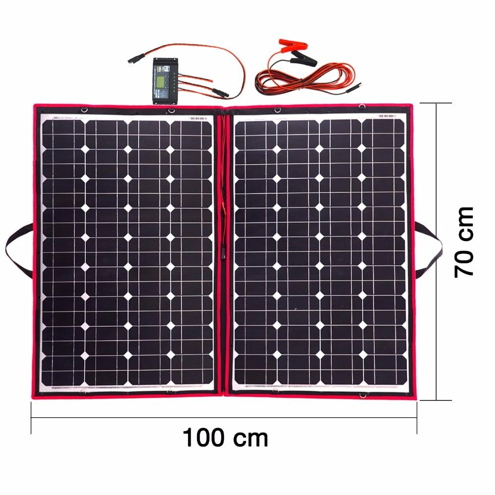 Dokio Brand 110w 55Wx2pcs Flexible Foldble Mono Solar Panel 100W For Travel Boat RV High Quality