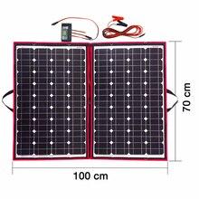 Бренд Dokio 110 Вт (55Wx 2 шт) Гибкая Складная моно солнечная панель 100 Вт для путешествий и лодок и RV Высококачественная портативная солнечная панель Китай