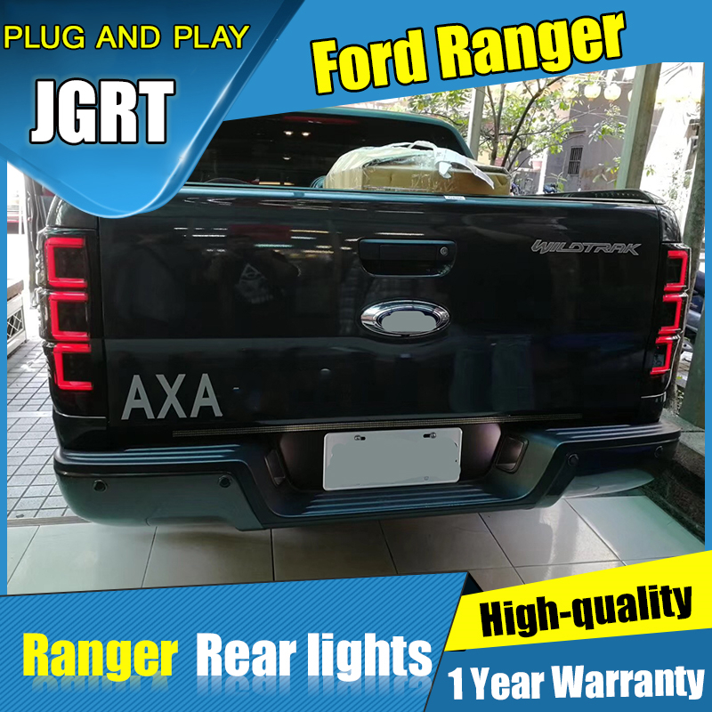 Car styling Accessories for Ford Ranger rear Lights led TailLight 2016-2018 for Ranger Rear Lamp DRL+Brake+Park+Signal lights left right rear car styling head lamp taillight led taillight tail light lamp w bulb harness for ford ranger pickup ute 2008 11