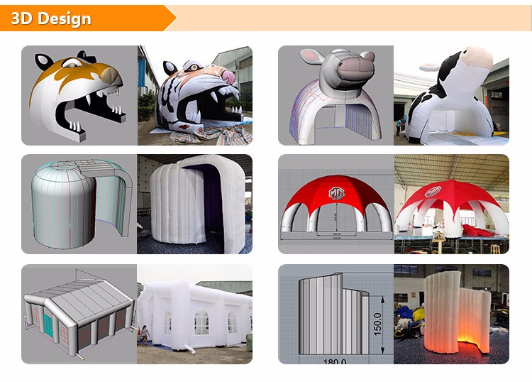 used inflatable tent