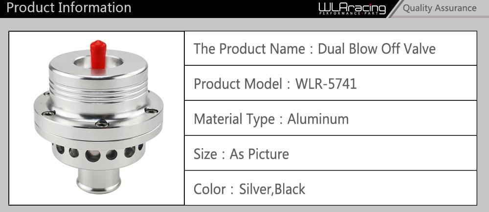 """WLR RACING- HQ """"(25 мм) двойной поршневой предохранительный клапан DV Turbo 1,8 T для VW Golf MK4 Jetta A4 B5 черный, серебристый BOV WLR5741"""