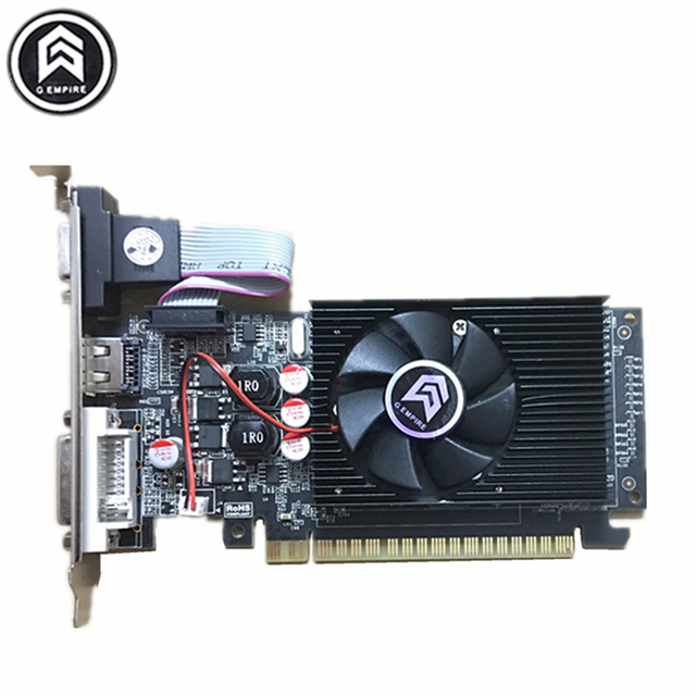 VGA placa de video  pci express graphics card PC  for Sapphire GT210 DDR3 1GB  64bit  for Nvidia GeForce graphique free shipping