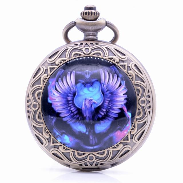 New Design Harry Potter Eagle Quartz Pocket Watch Pendant Necklace Chain Gift Me