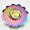 Super Gorgeous Color Tri Spinner Fidgets Toy Brass EDC Sensory Fidget Spinner Autism Adult Funny Anti