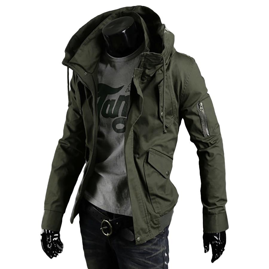 Hooded Mens Jacket Military Big Sizes Casual Streetwear Jackets Men Militaire Zipper Coat Men Punk Rave Tactical Overcoat 5J033