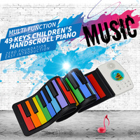49keys children portable soft handscroll controller synthesizer roll up piano electronic Musical Instruments for kids Beginner