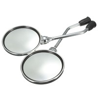 1 Pair 8mm Chrome Motorcycle Round Rearview Mirrors Rear View Side Mirror For Motorbike Dirt Bike