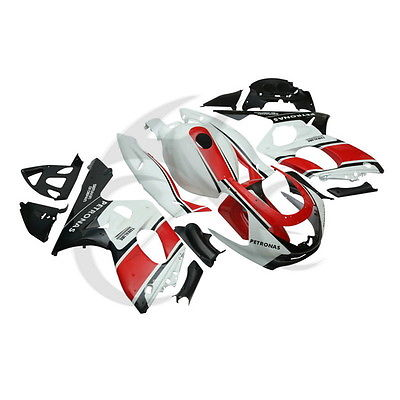 Черный белый красный Кузов ABS пластик Обтекателя Комплект для YAMAHA YZF600 YZF600R 97-07