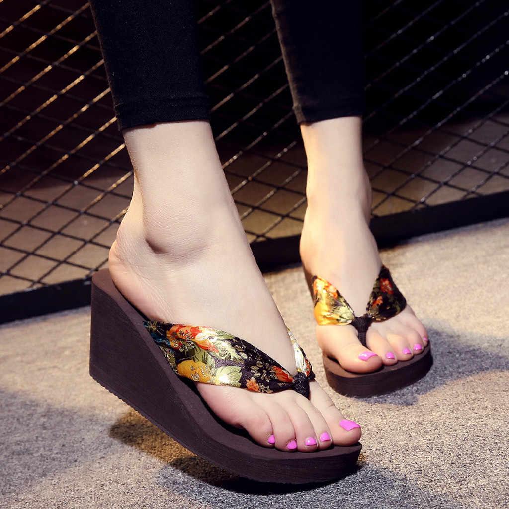 Schuhe frau sandalen high heels frauen sandalen flache beiläufige schuhe sommer sandalen frauen 2019 sommer schuhe aus echtem plattform Hausschuhe