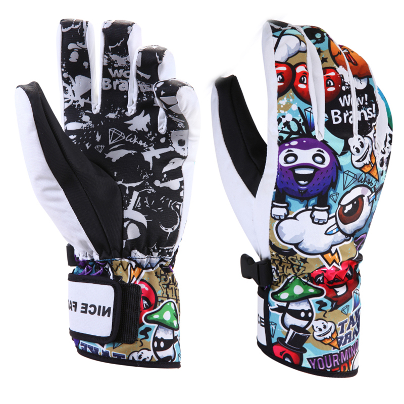 New Women Men Ski Gloves Snowboard Snowmobile Motorcycle Riding Mountain Children Winter Snow Gloves Windproof Waterproof Unisex цена