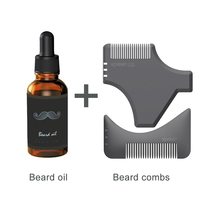 XPREEN 2 Pcs Beard Shaping Template Comb Beard Care oil Sets Multi-functional Men's Beard Styling & Shaping Trimmers Comb