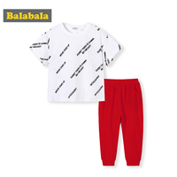 BalabalaKids Shorts Suits Children Tracksuit for Boys Sets 2019 Summer Baby Boy Clothes 2pcs Sport Suits Boys Clothing