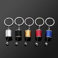 1pc Colorful Popular Gear 5cm*3cm Knob Gear Shift Gear Stick Box Metal Key Chain Keyfob Lovely Portable Car Keyring Hand Tools Machine Tools & Accessories