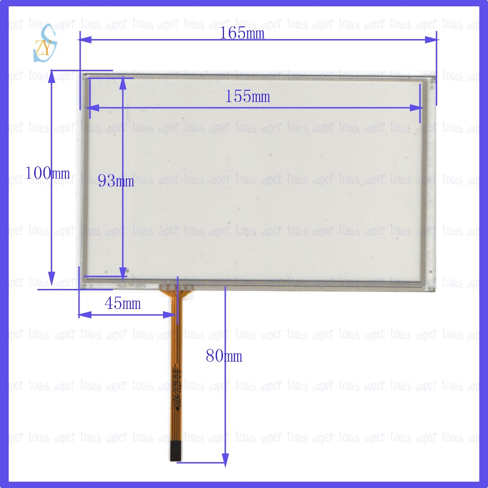 ZhiYuSun  165mm*100mm HLD-TP-3073 7inch Touch Screen Glass  Resistive USB Touch Panel 165*100 TOUCH SCREEN