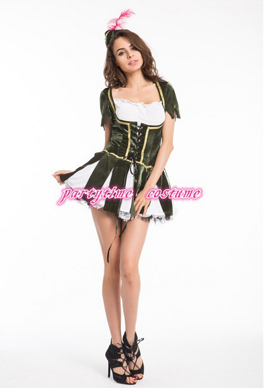 free shipping halloween costumes for women The heroine Movie Costumes British Robinhood Cosplay uniforms S M L XL 2XL