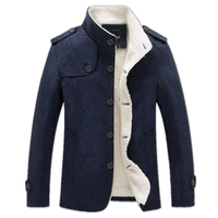 BOLUBAO Winter Men Coat Fashion Brand Clothing Fleece Lined Thick Warm Woolen Overcoat Male Wool Blend Men's Coat