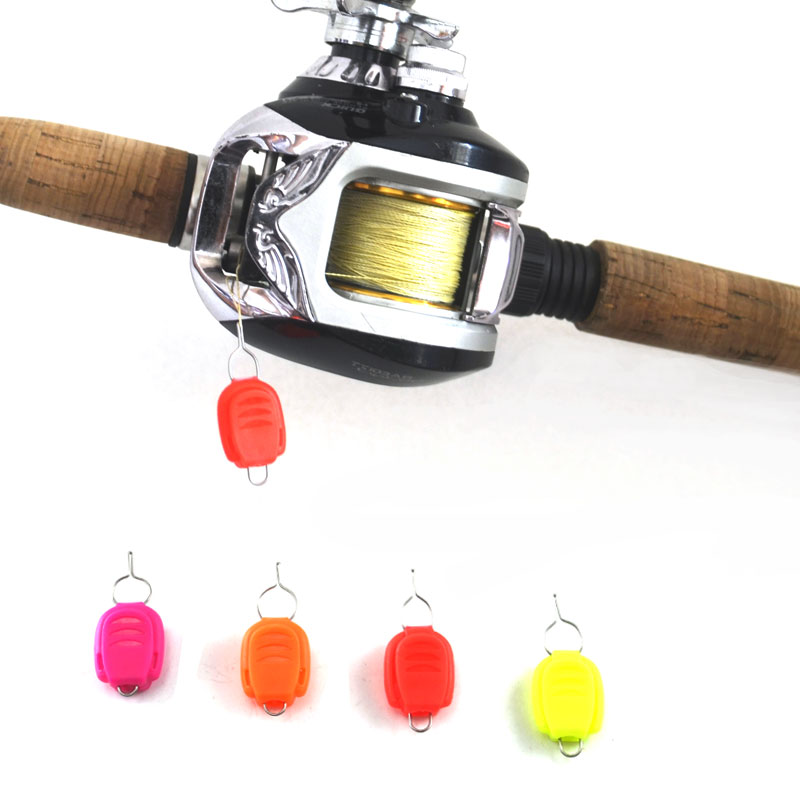 multiple color plastic fishing baitcast reel line clip stopper