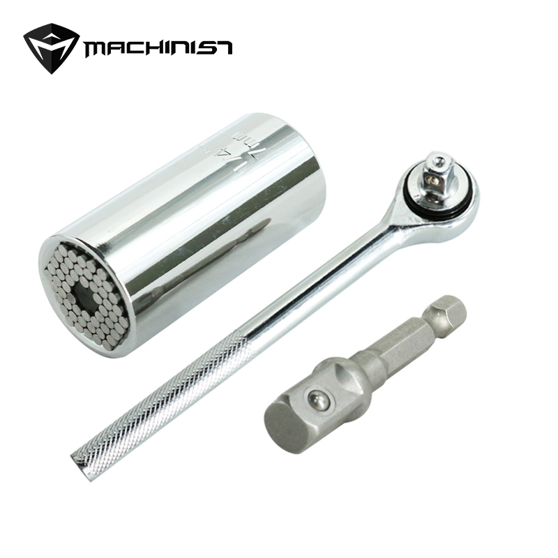 Magic Spanner Grip Multi Function Universal Ratchet Socket 7-19mm Power Drill Adapter Car Hand Tools Repair Kit Ratchet wrench ratchet