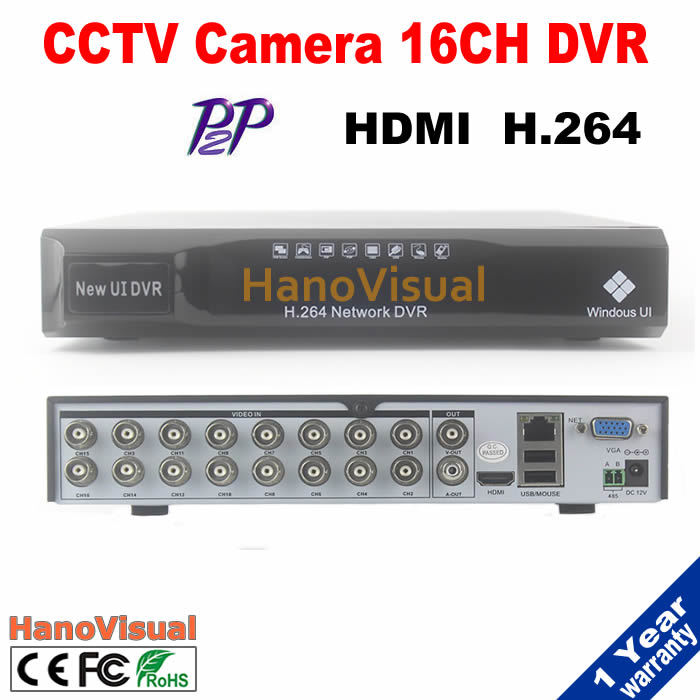 Remote View P2P 16CH DVR Support iPhone Android PTZ RS485 16 channel CIF HDMI H.264 For CCTV Camera Motion Detect Free Shipping top quality 800tvl ir night vision waterproof cctv camera with16 channel motion detect camera recorder dvr support h 264 ptz