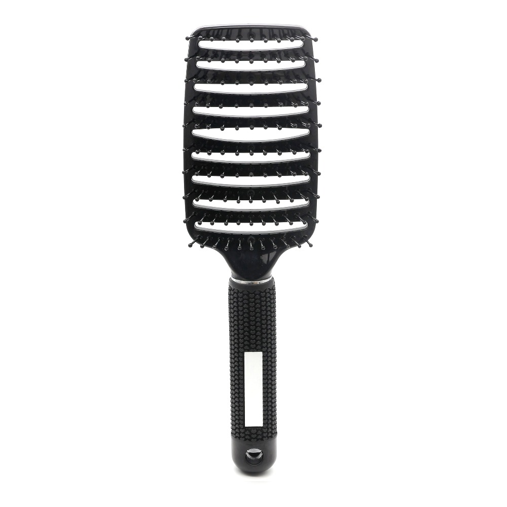 salon hairdressing Anti-static Curved Vent Hair Brush Barber Paddle Hair Brush for professional use 1