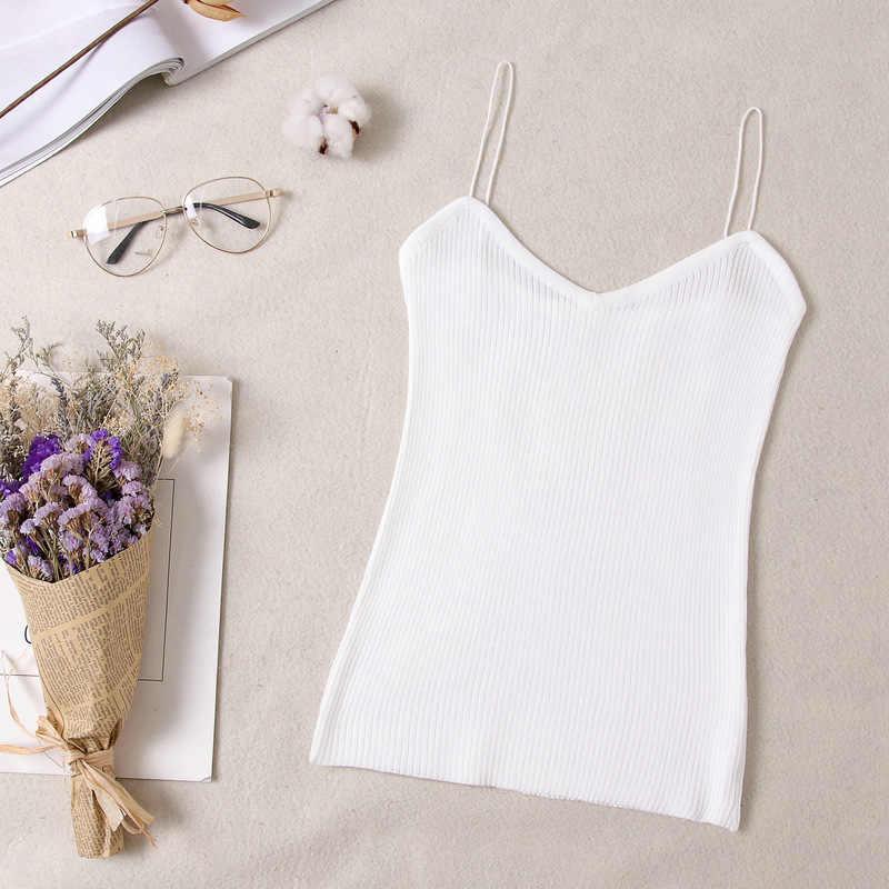 2019 ファッション女性の夏とキャミソールタンクはノースリーブ綿ビスチェパッドなしバンドゥブラベスト作物 Tシャツトップシームレス Bralette
