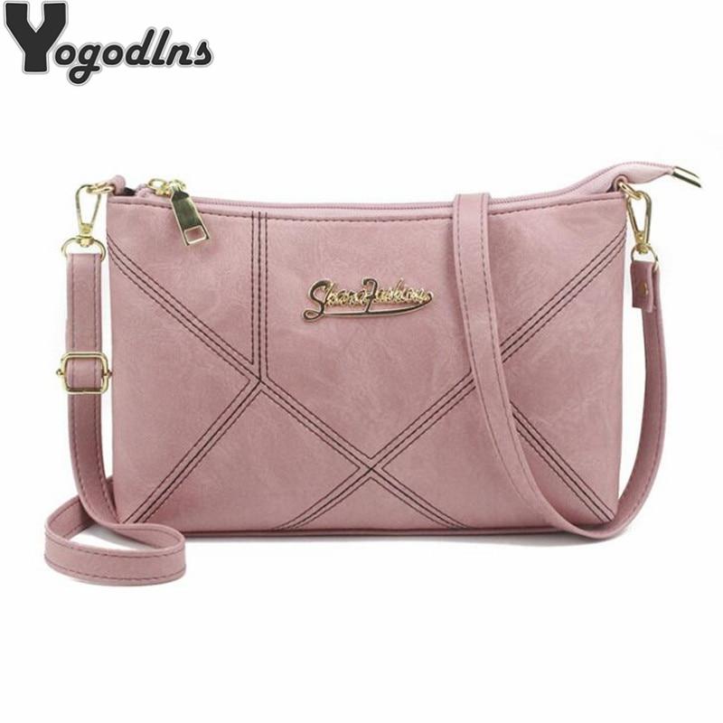 Retro Women Handbags Female Shoulder Crossbody Bags Ladies Artificial Leather Small 4 Colors Stripe Messenger Envelope Bags
