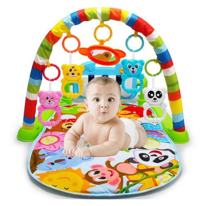 Bébé jouer tapis Rack Piano musique couverture lit cloche payer Gym jouet plancher ramper bébé tapis infantile enfants jouets éducatifs cadeaux 688-32