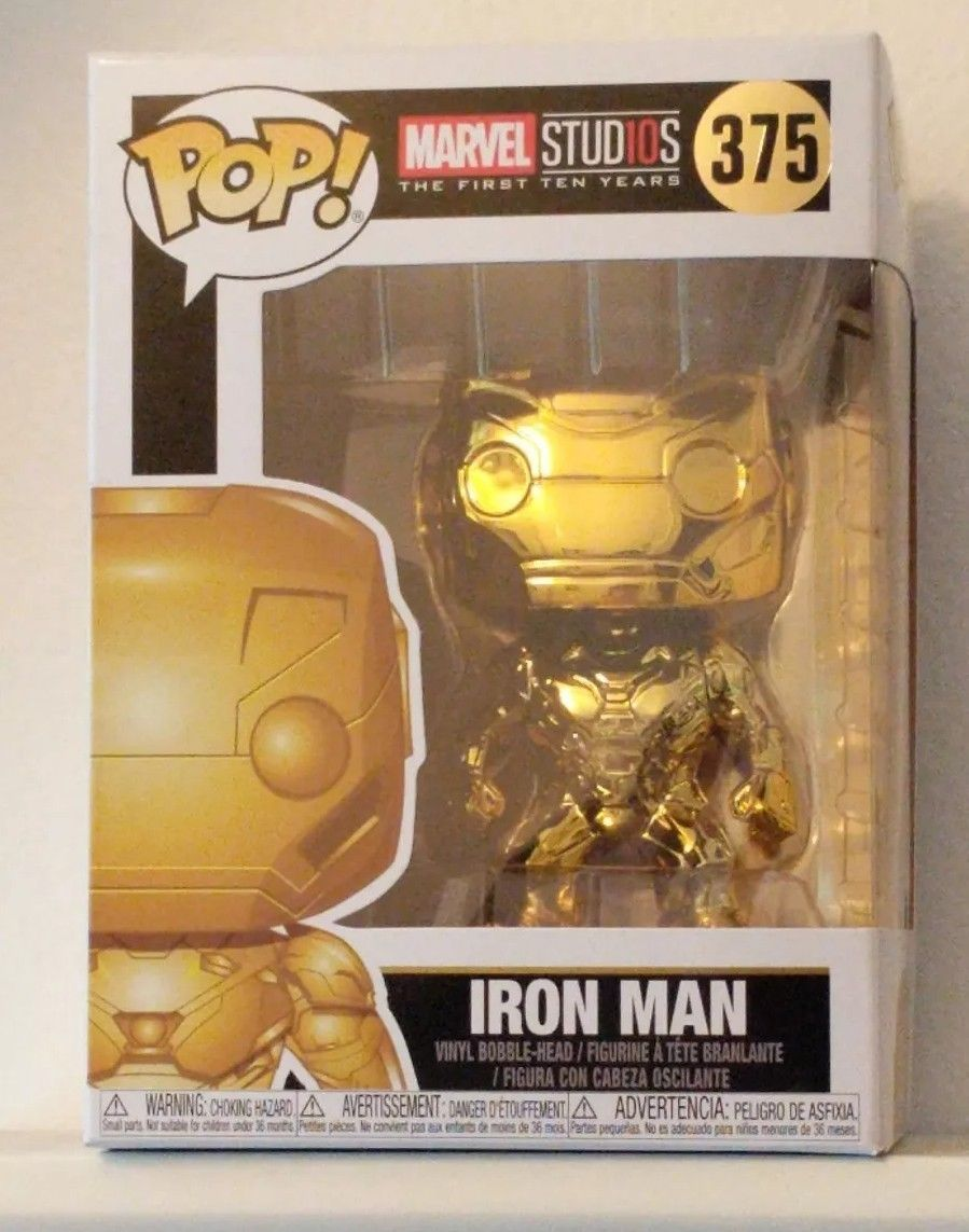 Funko pop Official Marvel Studios The First 10 Years Iron Man (Gold Chrome) Vinyl Action Figure Collectible Model Toy In StockFunko pop Official Marvel Studios The First 10 Years Iron Man (Gold Chrome) Vinyl Action Figure Collectible Model Toy In Stock