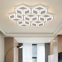 New Modern LED Chandelier Lighting White Polygon Single Module DIY Combination Chandelier For Living Dining Bedroom