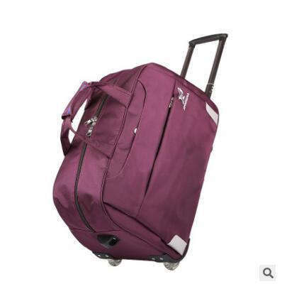 2016 Homens da marca Rolando Saco Da Bagagem bagagem Do Trole Saco Saco de Viagem sobre rodas Oxford À Prova D' Água Dupla Utilização Tote Duffle Mala de Viagem