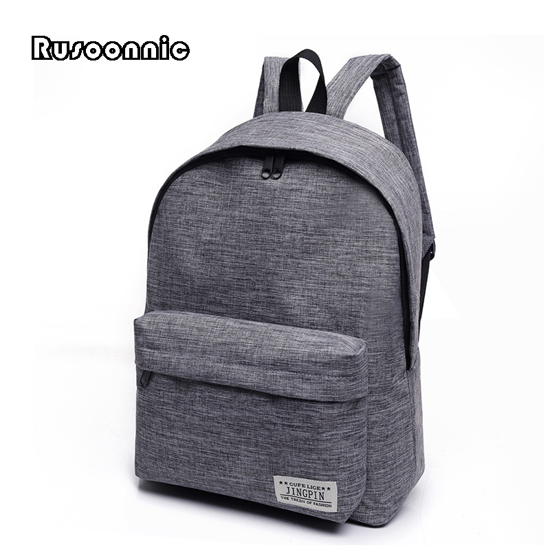 Rusoonnic Women School Bag Canvas Backpack men Softback Travel Bags Retro Backpacks For Girls mochila feminina Bagpack sac a dos aosbos fashion portable insulated canvas lunch bag thermal food picnic lunch bags for women kids men cooler lunch box bag tote