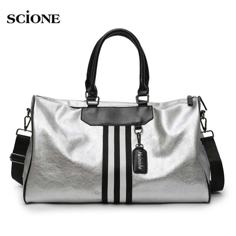 Yoga Fitness Gym Bag Sac De Sport Leather Bags Handbags For Women Shoes Tas Travel Waterproof Luggage Gymtas Bolso Laser XA592WA