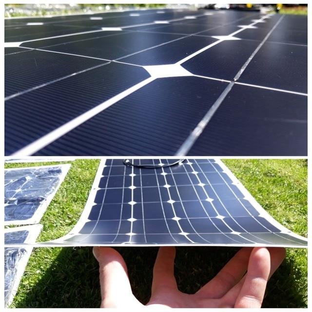 Dokio 100w Flexible Monocrystalline Solar Panel Kit For Home & RV & Boat 500w 1000w Flexible Solar Panel China Drop Shipping 4